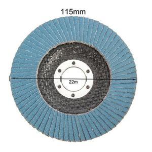 Image 5 - 10個プロフェッショナルフラップディスク115ミリメートル4.5サンディングディスク40/60/80/120グリット砥石のためのアングルグラインダー