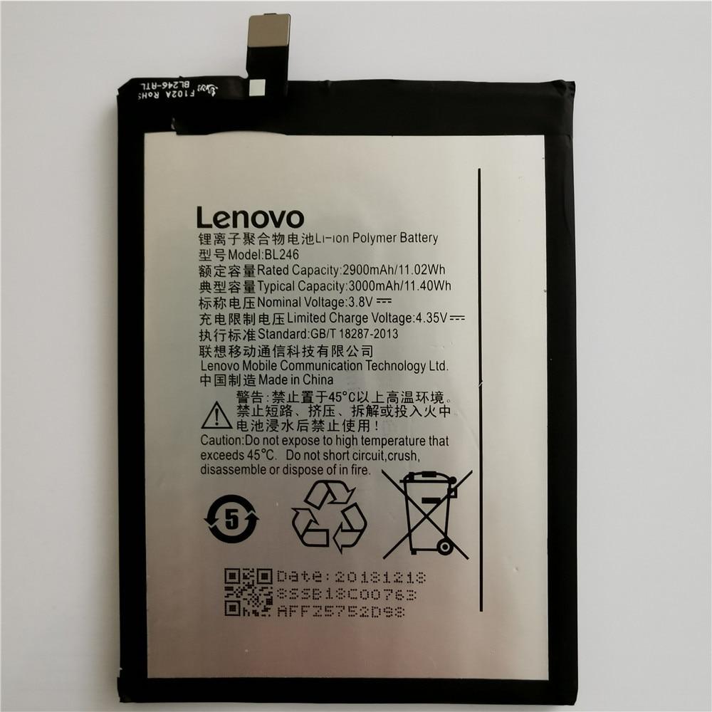 100% Original New Battery For Lenovo Z90 Battery BL246 Lenovo Vibe Shot Battery Z90A40 Z90-7 3000mAh Rechargeable Phone Battery