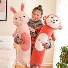 Цилиндрическая игрушка с животными из мультфильмов для подушки кролик обезьяна ленивый плюшевая игрушка детская кукла высокое качество