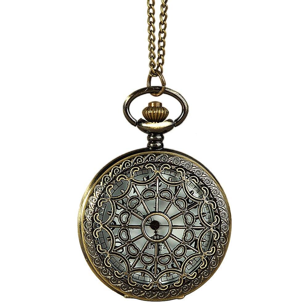 Vintage Bronze Tone Spider Web Design Chain Pendant Men's Pocket Watch Gift Watch Clock Wholesale Relogio De Bolso #4O04