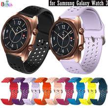 Bracelet de rechange en Silicone, 20mm, pour Samsung Galaxy Watch 3 41mm, pour Amazfit BIP youth / GTS / GTR 42mm