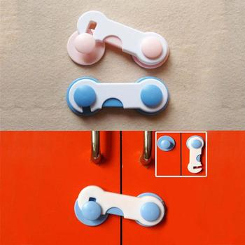 2Pcs/Lot Baby Lock Protection Of Children Doors Safety Kids Plastic Drawer Door Cabinet Cupboard Toilet Care Straps Infant