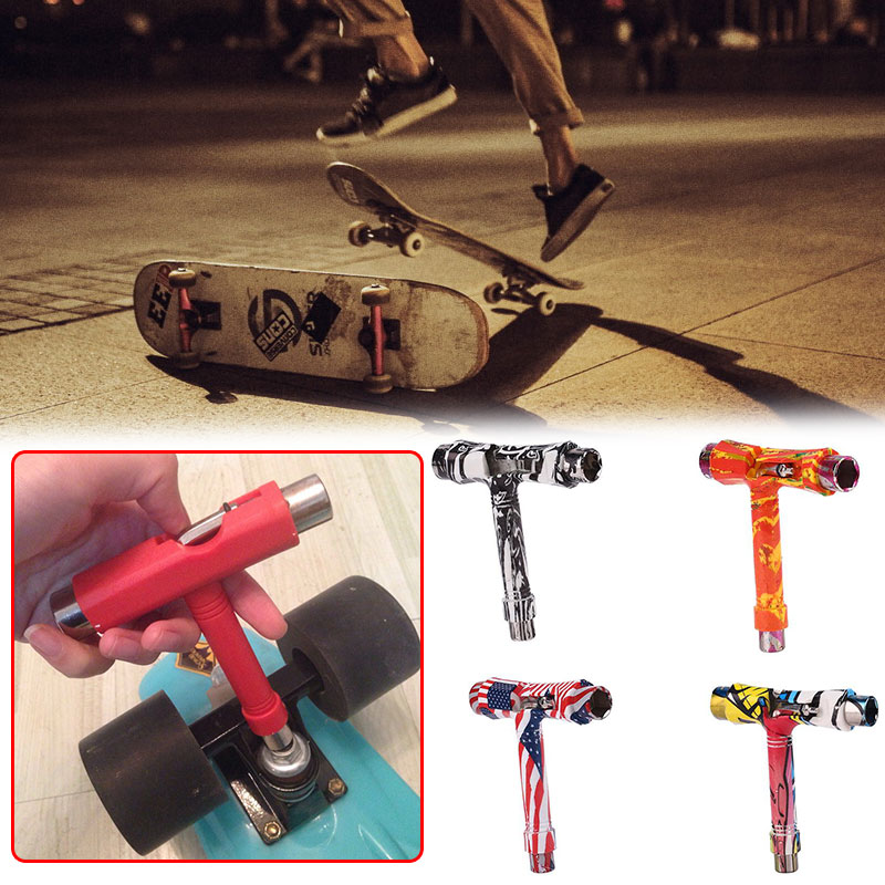 Scooter T-Shaped Tool Outdoor Patterned Skate Skate Patterned Patterned Rollers Parts Sport Control Accs