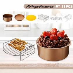 New 6 Pcs Air Fryer Accessories 9 Inches Non-stick Barbecue, Baking, Cooking Accessories Tools For all Air fryer 5.3QT to 6.8QT