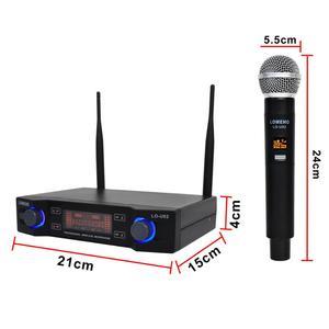 Image 4 - LO U02 سهلة الاستخدام المهنية 2 المحمولة الترددات UHF كبسولة ديناميكية 2 قناة ميكروفون لاسلكي ل نظام الكاريوكي