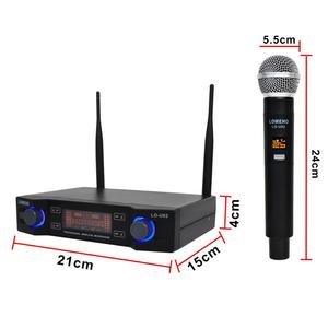 Image 4 - LO U02 Easy to use Professional 2 Handheld UHF Frequencies Dynamic Capsule 2 Channel Wireless Microphone for Karaoke System