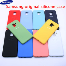 Для Samsung жидкий силиконовый чехол для телефона A8 2018 J4 Plus чехол шелковистый мягкий сенсорный защитный чехол для A750 J530 J6 2018 S11e