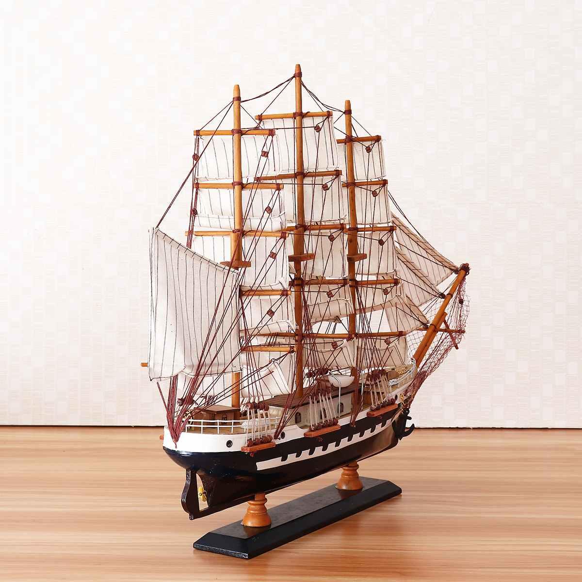 65cm Houten Zeilboot Model Zeilschip Display Schaal Boot Decoratie Gift Kits Montage Model Building Kits Geschenken Decoratie - 5