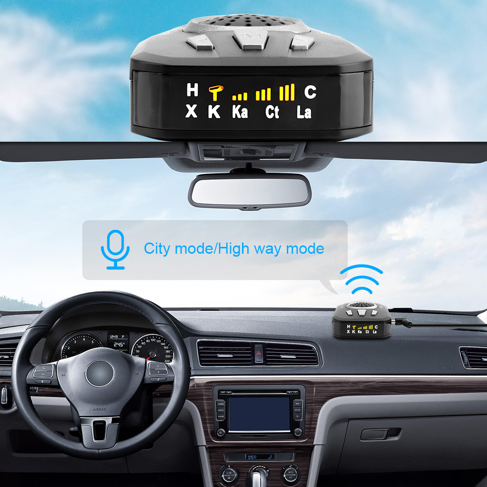 Image 3 - BORUiT Universal Car Radar Detector M8 Full Band Scanning Car Radar Voice Alert Warning Speed Control Detector-in Radar Detectors from Automobiles & Motorcycles