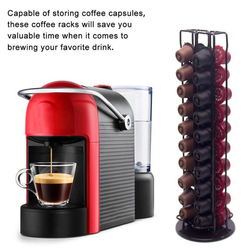 40 Tasses Nespresso Cafe Dosettes Support Dolce Gusto Rotatif Cafe Porte Capsules Capsules Etagere De Rangement Cafe Accessoires Aliexpress