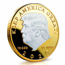 2020 President Donald J. Trump Zilveren Vergulde EAGLE Herdenkingsmunt Houden Amerika Grote 45th President Novelty Coin Gifts(China)