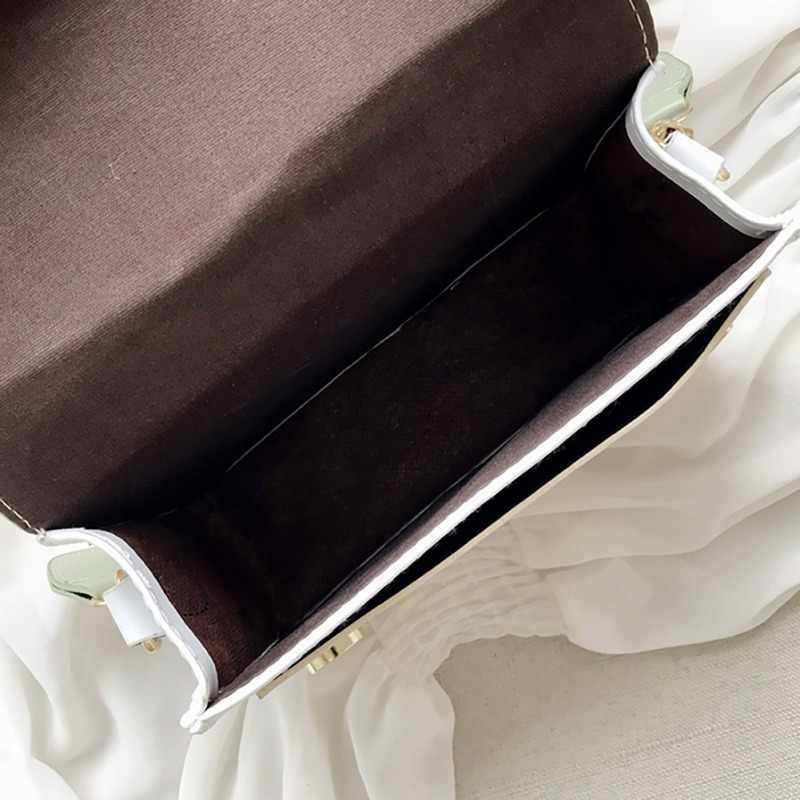 แฟชั่นกระเป๋าถือหนังผู้หญิงกระเป๋าสะพายแฟชั่นคู่รากห่วงโซ่ขนาดเล็กสี่เหลี่ยมแพคเกจที่ละเอียดอ่อน 2020 ใหม่ร้อน