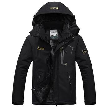 Winter Parka Men Windbreak Plus Velvet Thick Warm Windproof Fur Coats Male Military Hooded Anorak Jackets Men's Winter Jackets 5