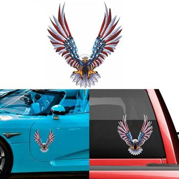 1pc PVC 13cm*15cm Personality American Eagle Flag Bald Car Eagle Car Accessories Decal Sticker Car Decal Sticker Car Sticke A0U2 image