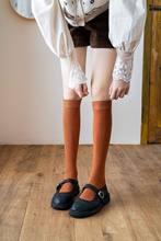 Kobiety dziewczęta pończochy styl Preppy cukierkowe kolory jednokolorowy ciepły bawełniany pończochy samonośne 1 pary nowe jesienne prezenty