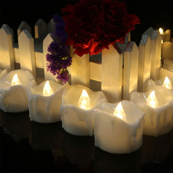 12pieces LED Candle Light Tealights Fake Led Night New Year Christmas Halloween Decorative Lamp for Home Decoration