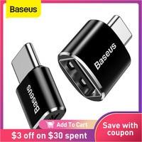 Baseus-adaptador OTG de tipo C macho a USB hembra, convertidor de enchufe de cargador para Usb hembra a tipo c macho