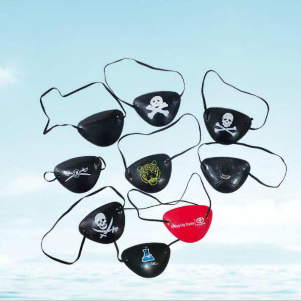 5Pcs Pirate Eye Patch Eye Mask Eyeshade Cover Plain for Adult Lazy Eye Amblyopia Skull Eye Patch Costume Halloween Mask Toys