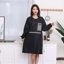 Apron Hairdresser Pocketwoman Kitchen Plus-Size with Zipper Men Household Antifouling