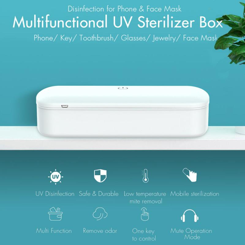 New Cell Phone Makeup Brushes Sterilization Box Cell Phone Sterilizer Jewelry Sterilization Box UV UV Sterilizer Nail Art Tools