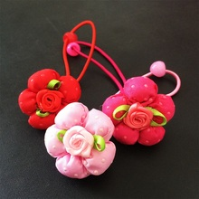 1Pcs/lot Cute Lovely Flower Elastic Hair Rope Ties Hairband Headwear Rubber Bands Women Ponytail Accessories