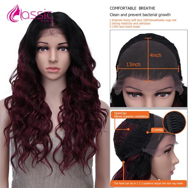 классический плюс 13*4 синтетический кружевной парик для черных фотография