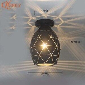 Image 2 - Потолочный светильник, железная лампа с металлическим основанием, светодиодный светильник для гостиной, комнасветильник освещение в стиле лофт и дома, Металлическая лампа с птицами для поверхностного монтажа
