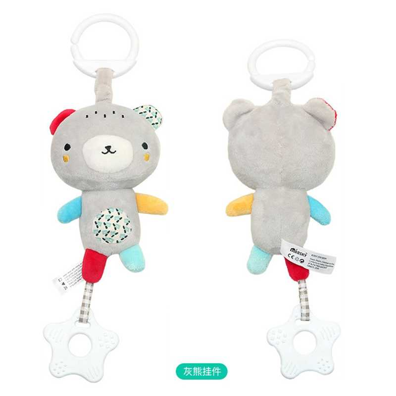 Educational Toy For Children Hanging Crib Stroller Animal Newborn Rattle Plush Pendant Baby Toy 0-12 Months Soft Doll Bed Rattle