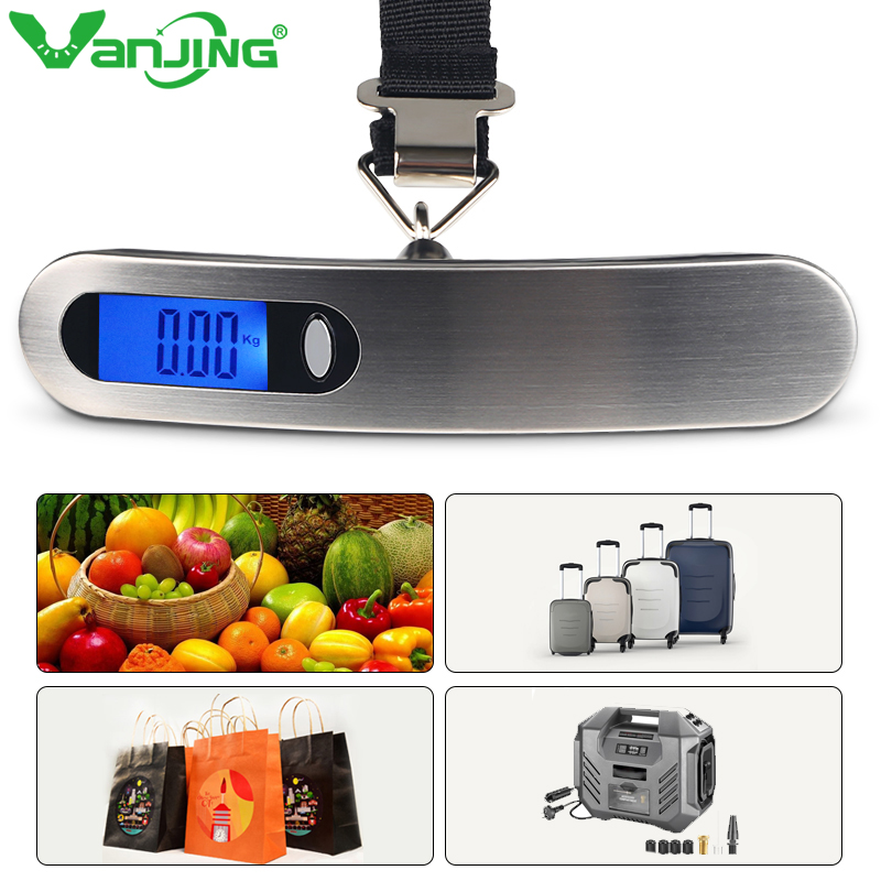 50kg/110lb Digital Electronic Luggage Scale Portable Suitcase Scale Travel Bag Weighting Travel Handheld Weight Balance image