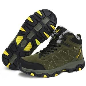 Image 3 - Botas de exterior de ante para hombre y mujer, botines cálidos y populares, informales para la nieve, para caminar, de cuero, para caza