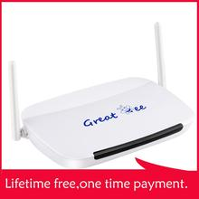 Bestseller great bee arabic iptv box,free shipping,free for life to watch,no mon