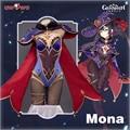 Предпродажа Uwowo игра Genshin Impact Mona Megistus астральное отражение косплей костюм милый загадочный астролог боди
