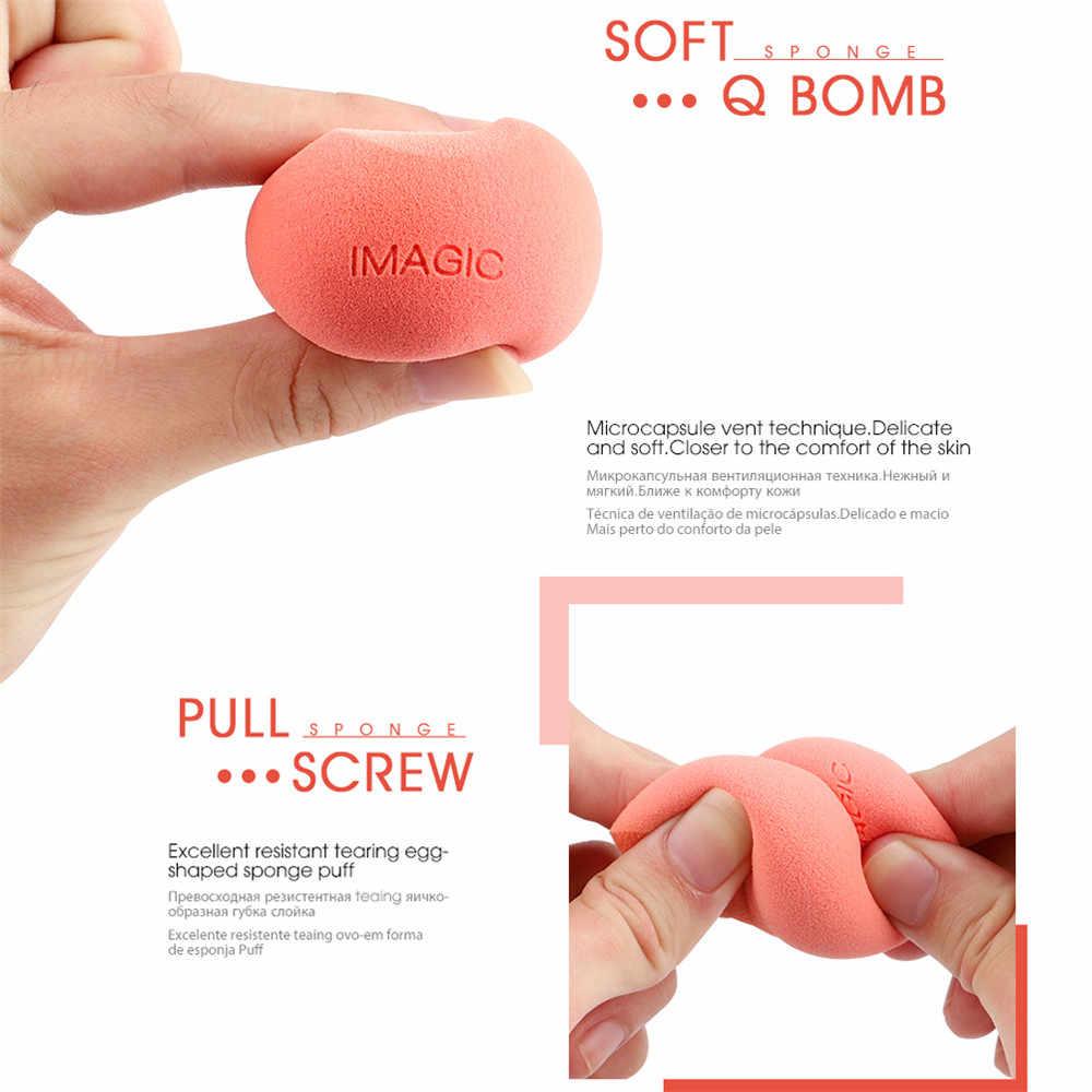Panas Baru Makeup Foundation Sponge Riasan Kosmetik Puff Bubuk Halus Kecantikan Kosmetik Make Up Sponge Puff Wet & Dry Dual menggunakan