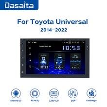 "Dasaita 9 ""IPS 2 Din Autoradio Carplayer Android 10 Toyota Corolla Auris için Fortuner radyo 2017 bluetoothlu gpsli navigasyon"