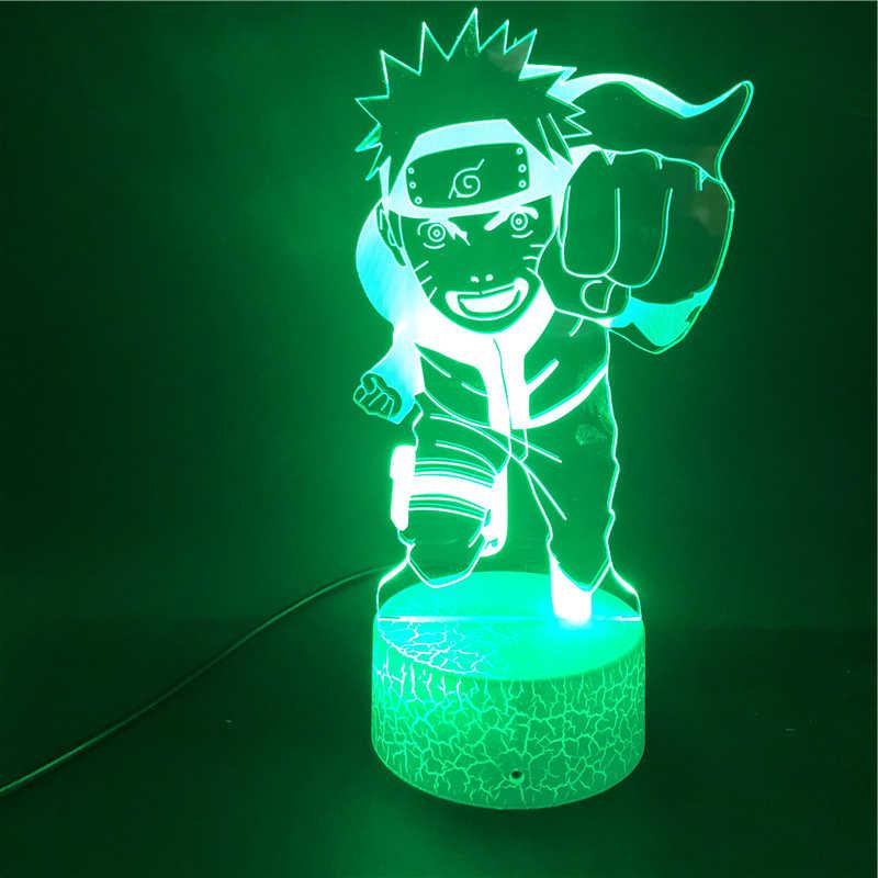 Naruto Anime Nhật Bản 3D Đèn Nightlight Quà Tặng Tốt Nhất Thông Minh Điều Khiển Điện Thoại USB Đồng Hồ Báo Thức Đế Đèn Ngủ LED đèn