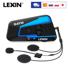 ยี่ห้อLexin LX B4FMสำหรับ4 Riders Intercomรถจักรยานยนต์BluetoothชุดหูฟังBT Moto Intercomunicador FMวิทยุ