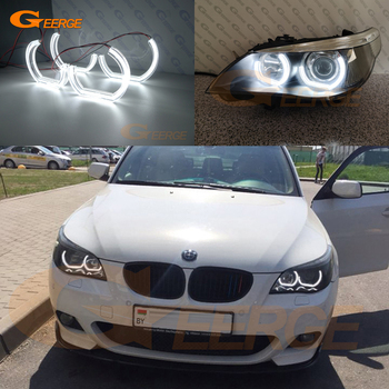 For BMW E60 E61 520i 525i 530i 540i 550i M5 Pre LCI Excellent DTM M4 Style Ultra bright led Angel Eyes halo rings Car styling фото