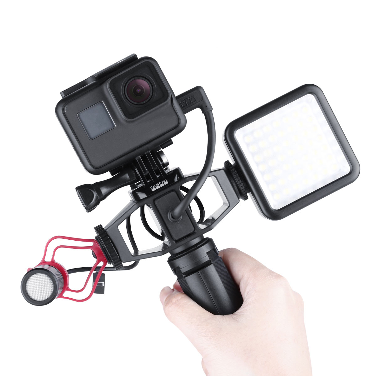 2 Cold Shoes Mounting Mic Bracket Adapter Holder With 1//4 Screw for GoPro Vlog