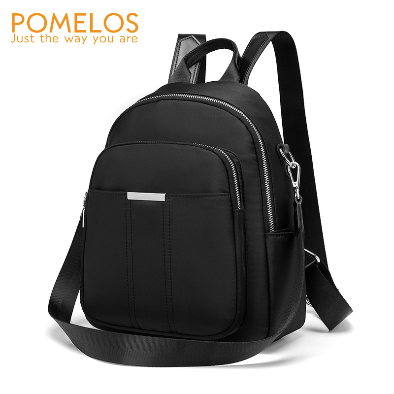 POMELOS Women Backpack Water-repellent Material Oxford Roomy Interior Funcional Solid Black Bagpack For Women