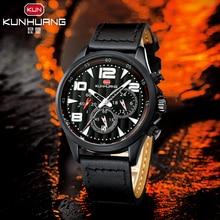цена на 2019 Mens Military Chronograph Wristwatch Clock Relogio Masculino Top Brand Men Watches Fashion Bussiness Quartz Watch