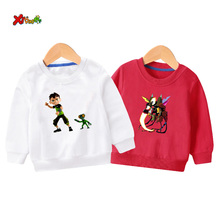 kids sweatshirts ben 10 T Shirt  Long Sleeve Boys Cartoon NEW Hoodies Children Sweatshirt Autumn Casual Outwear Baby Clothing 5T