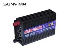 SUNYIMA saf sinüs dalga araba güç invertörü 2000W 12 V/24 V/48 V için 220V güç dönüşümü güçlendirici