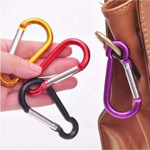 Carabiner Keychain Hiking-Hook Safety-Buckle Climbing-Button Outdoor-Sports Multi-Colors