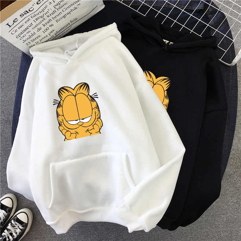 women sweatshirts Winter autumn Hoodies Loose Clothes Couple Shirts Cartoon coffee cat shirt Long Sleeve sweatshirts outwear