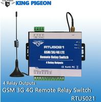 Wireless GSM 3G 4G Relay switch SMS Remote Controller 4 Relay Outputs SMS APP Timer Web setting IoT Gateway Alarm System RTU5021