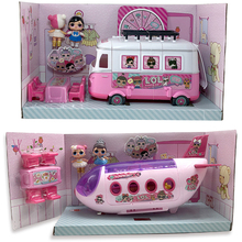 LOL Surprise Original House Dolls Airplane Toys Anime Figures Plane Model Collection DIY toy girl Birthday Gifts