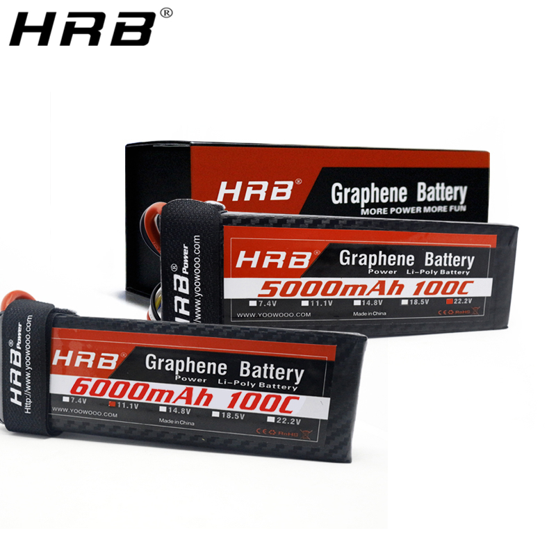 HRB Graphene 3S <font><b>Lipo</b></font> Battery 11.1V 5000mah <font><b>6000mah</b></font> 4000mah 3800mah 3000mah 2S 7.4V 4S 14.8V <font><b>5S</b></font> 6S 22.2V RC Airplanes Parts XT60 image