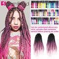Самкоса DIY 40 дюймов Синтетические волосы Джамбо коробка плетение наращивание волос для женщин розовый каникарон Омбре цвет для волос