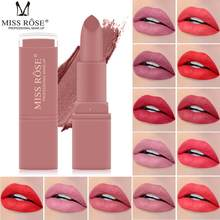 MISS ROSE Matte Lipstick Waterproof Velvet Lip Stick Sexy Red Color Brown Pigments Makeup Matte Lip sticks Beauty Cosmetic TSLM1(China)