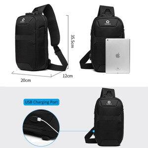 Image 5 - OZUKO الرجال حقيبة ساعي مكافحة سرقة مقاوم للماء USB إعادة شحن الكتف حقائب كروسبودي الصدر حزمة الذكور حقيبة رافعة لرحلة قصيرة
